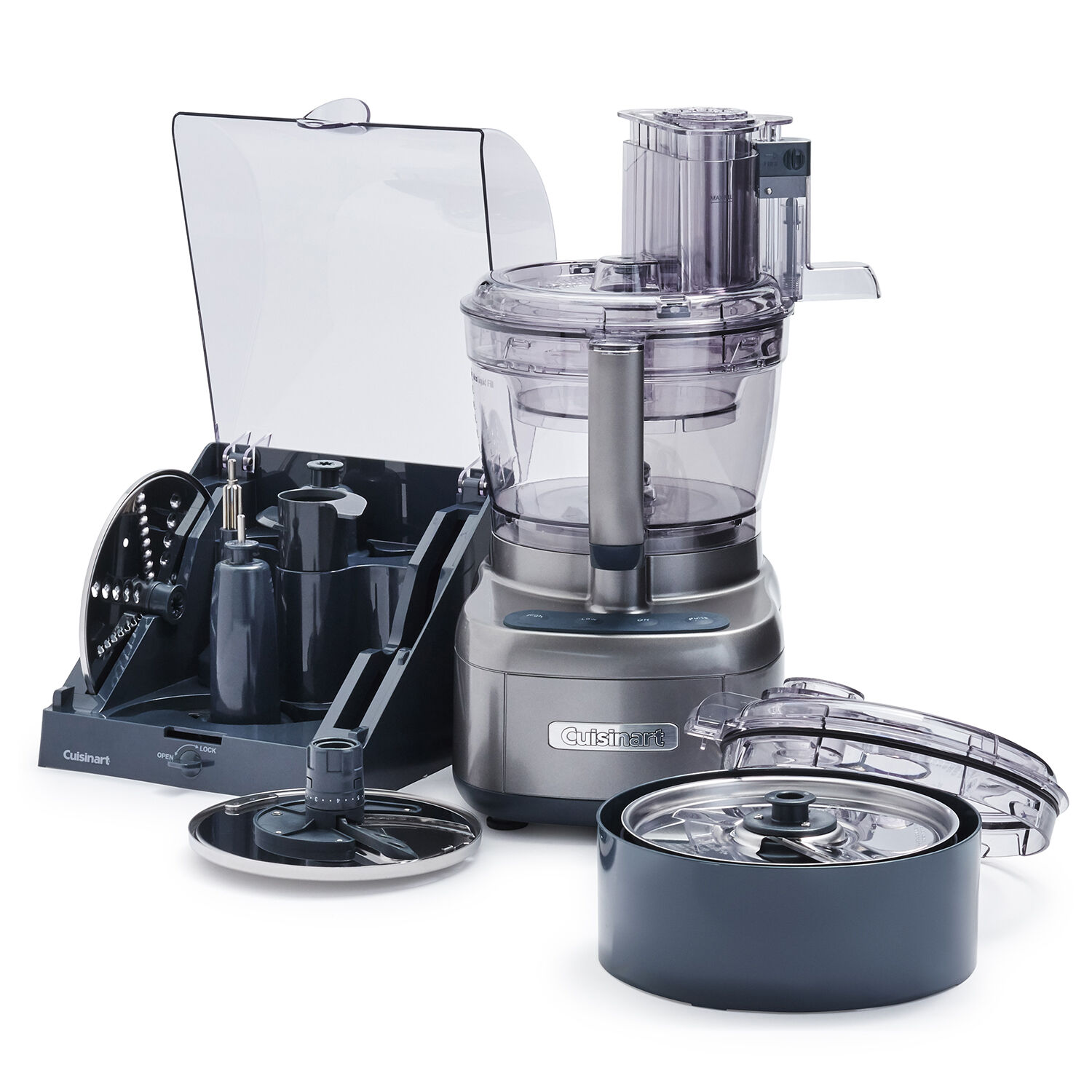 Cuisinart Food Processor Elemental 13-Cup Silver Stainless Steel and Dicing Kit
