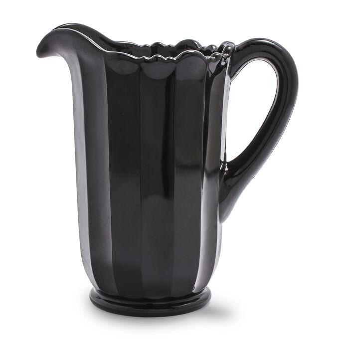 Mosser Black Glass Pitcher, 40 oz.