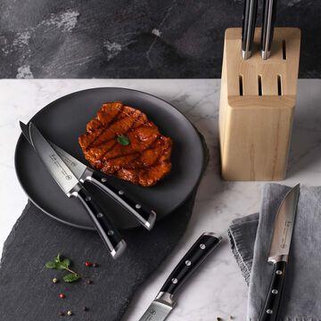 "Cangshan TS Series Swedish Sandvik Steel Forged Steak Knife Block, Set of 6, 5"""