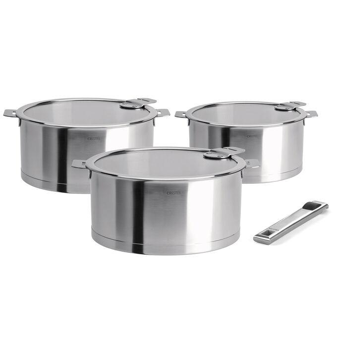 Cristel Strate Saucepans, Set of 3