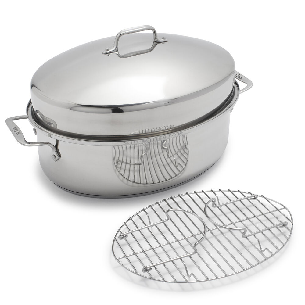 All-Clad Stainless Steel Covered Oval Roaster
