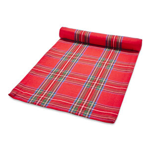 "Christmas Plaid Table Runner, 108"" x 16"""