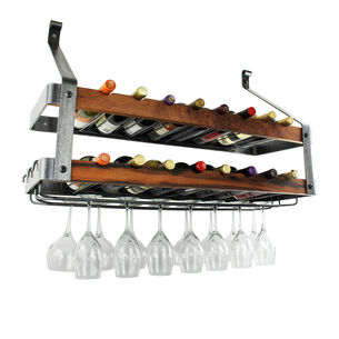 Enclume Hammered Steel & Tigerwood Signature Bookshelf Double Wine Rack