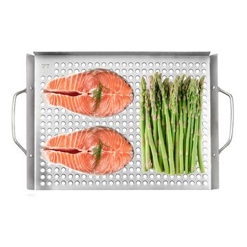 """Outset Stainless Steel Grill Topper Grid, 11"""" x 17"""""""