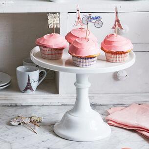 "Mosser Milkglass Cake Stand, 12"""