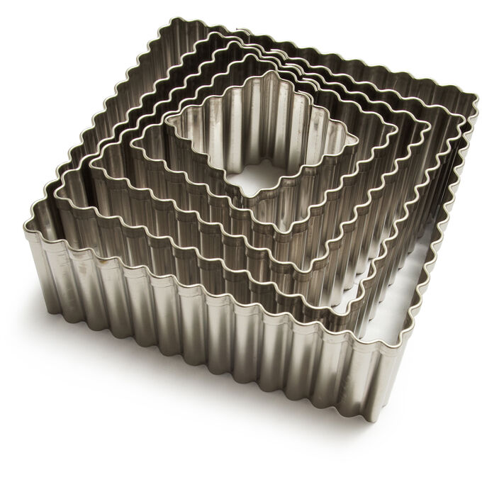 Ateco Fluted Square Cutters, Set of 5