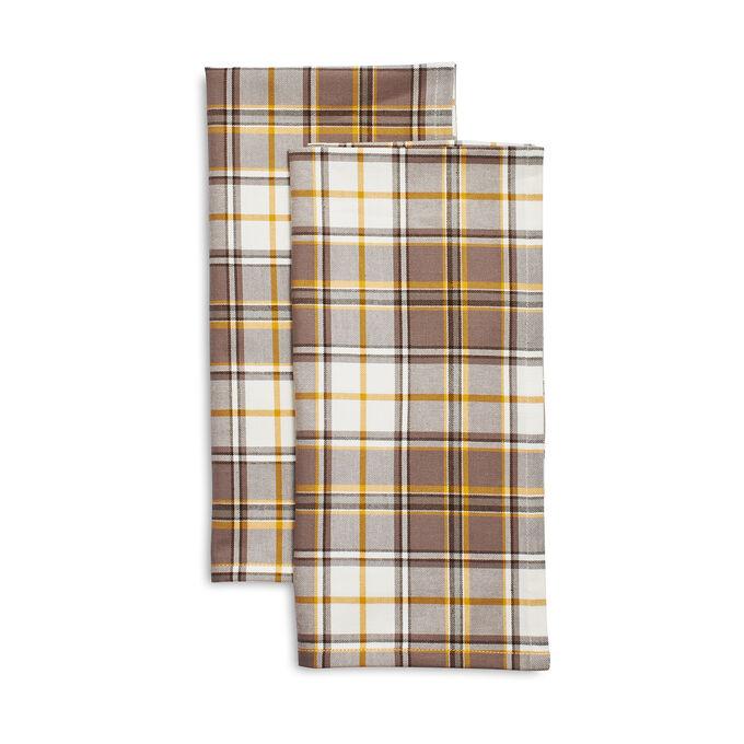 Plaid Kitchen Towels, Set of 2