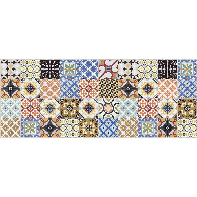 Mixed Tile Vinyl Floor Mat
