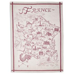 "Map of France Jacquard Kitchen Towel, 30"" x 22"""