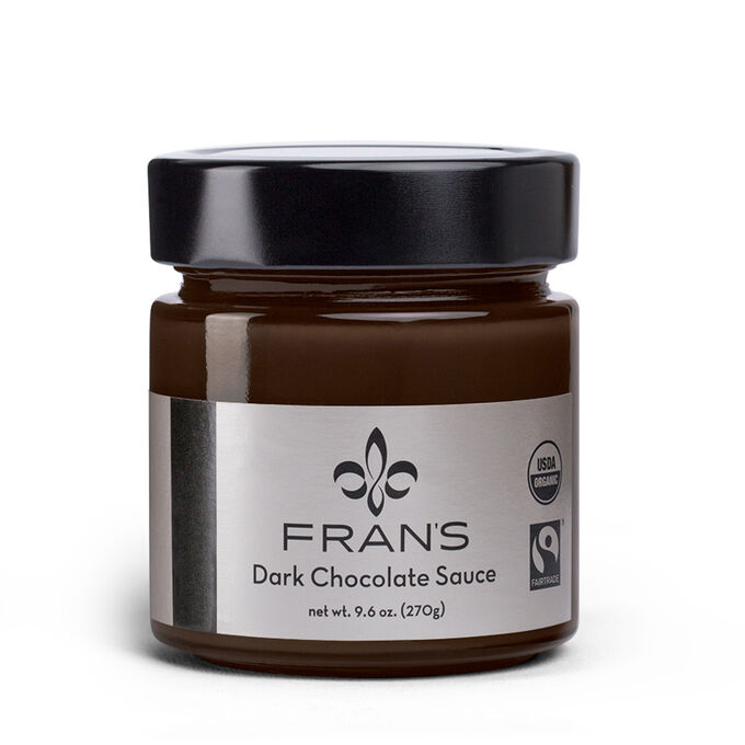 Fran's Chocolates Dark Chocolate Sauce, 9 oz.