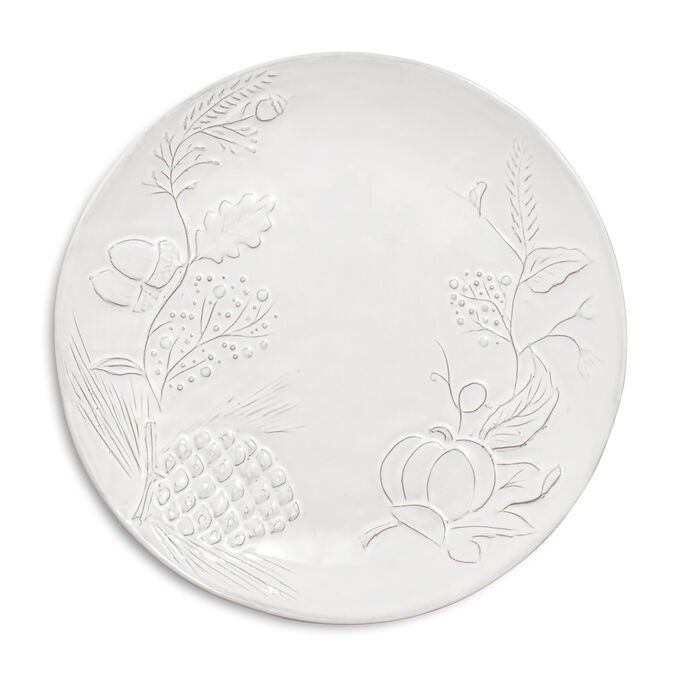 White Pumpkin Embossed Salad Plate