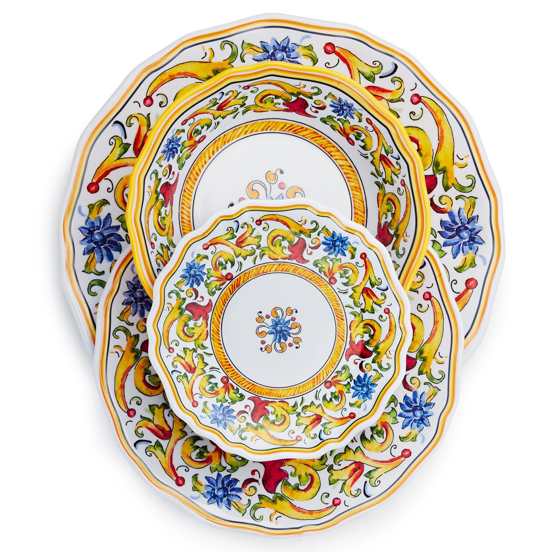 Ink Design Melamine Dinner Tableware Caravan Accessories Salad Bowl Motorhome