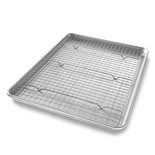 USA Pan Half Sheet Nonstick Pan and Bakeable Nonstick Cooling Rack Set