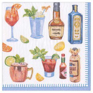 Happy Hour Cocktail Napkins, Set of 20