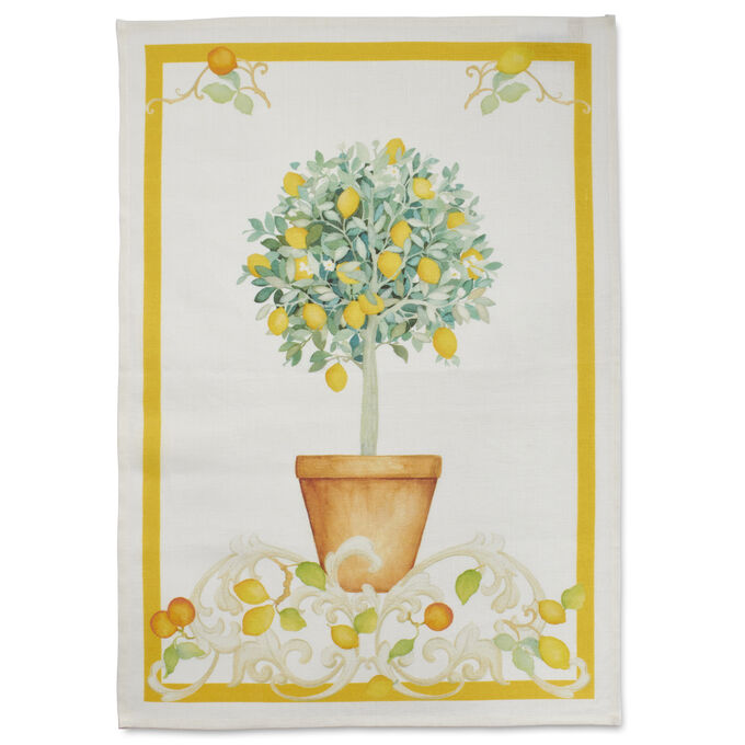 "Lemon Tree Linen Kitchen Towel, 28"" x 20"""