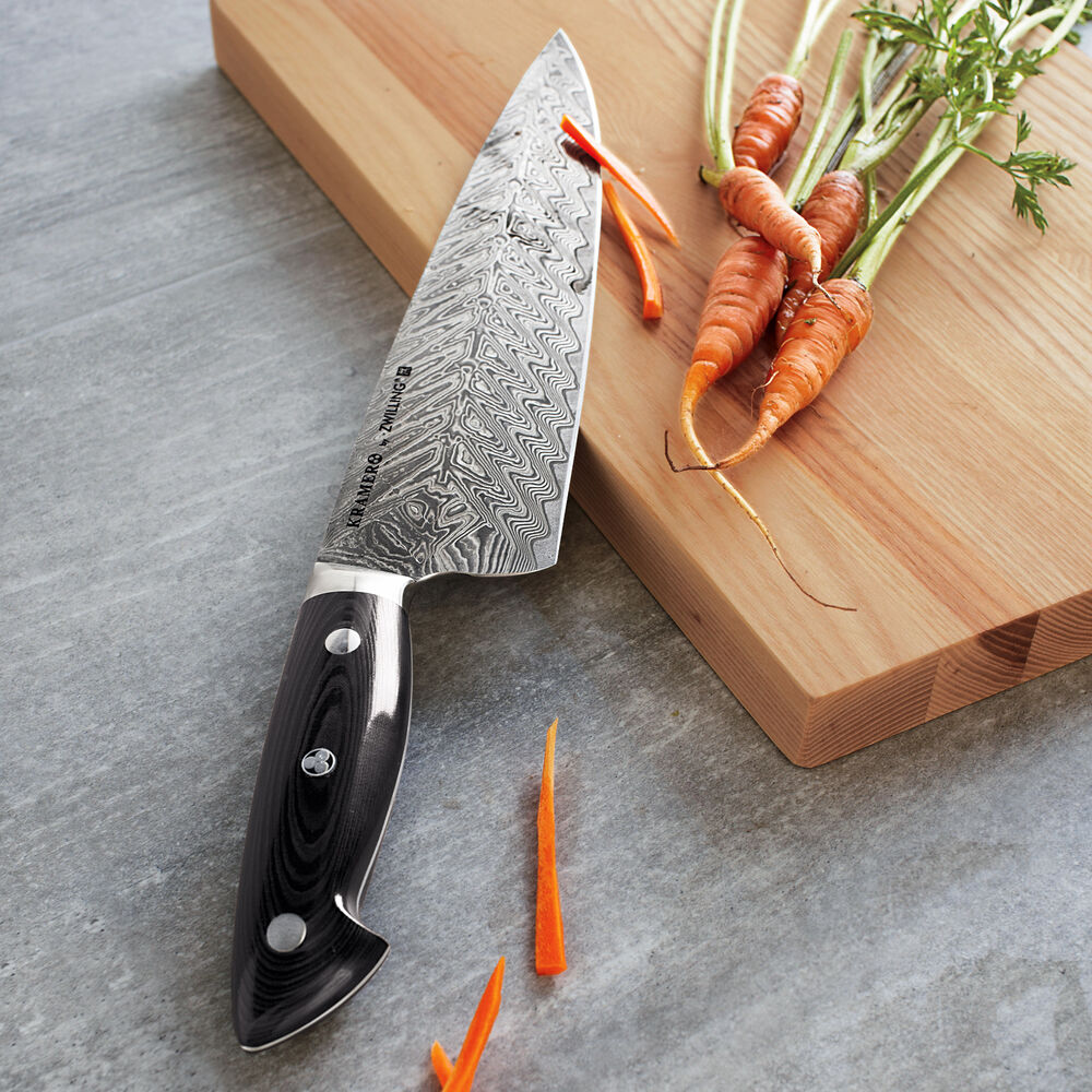 """Bob Kramer 10"""" Stainless Damascus Chef's Knife by Zwilling J.A. Henckels"""