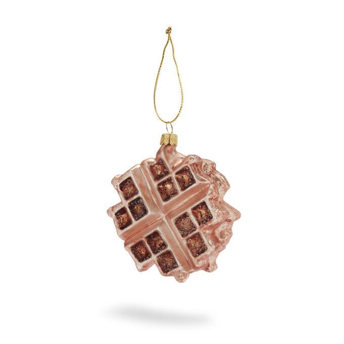 Belgian Waffle Glass Ornament
