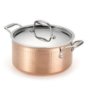 Lagostina Martellata Hammered Copper 5-qt. Stockpot