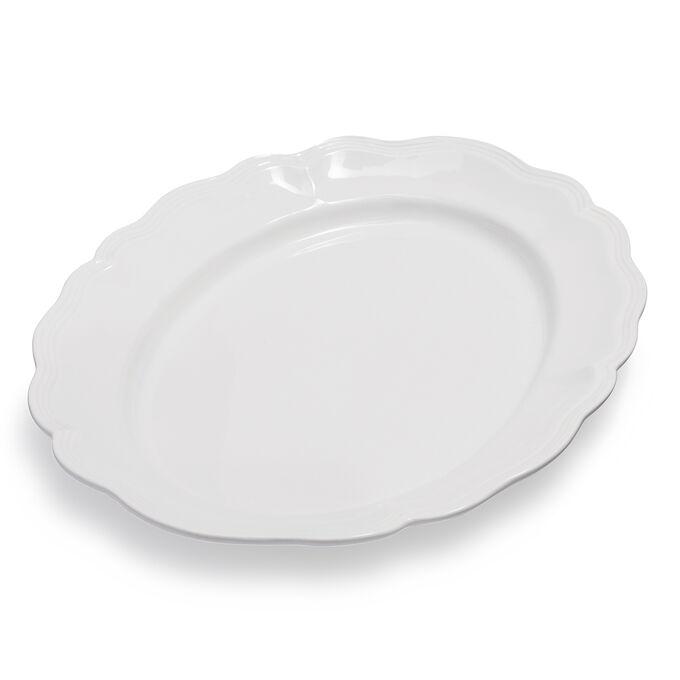 """White Margot Serving Platter, 19"""" x 15"""""""