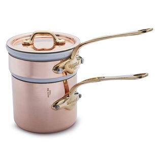 Mauviel M'150b Copper Bain Marie with Lid, 0.8 qt.