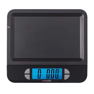 Taylor USB Digital Kitchen Scale Black, 11 lb.