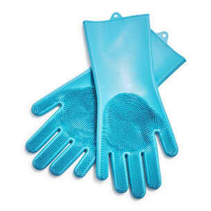 Aqua Silicone Cleaning Gloves