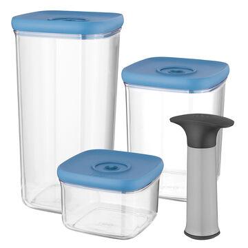 Leo 4-Piece Vacuum Food Container Set