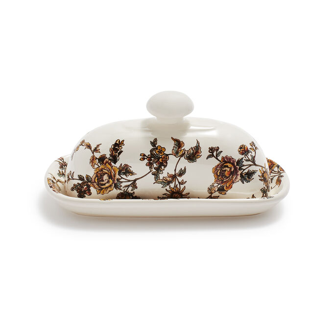 Chintz Butter Dish