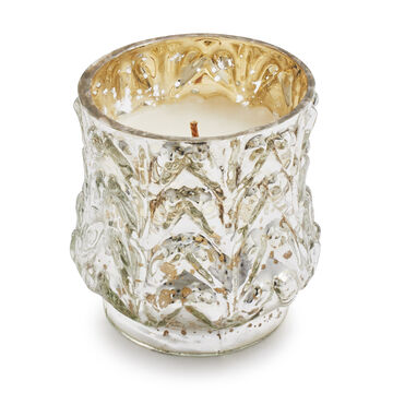 Silver Mercury Glass Candle