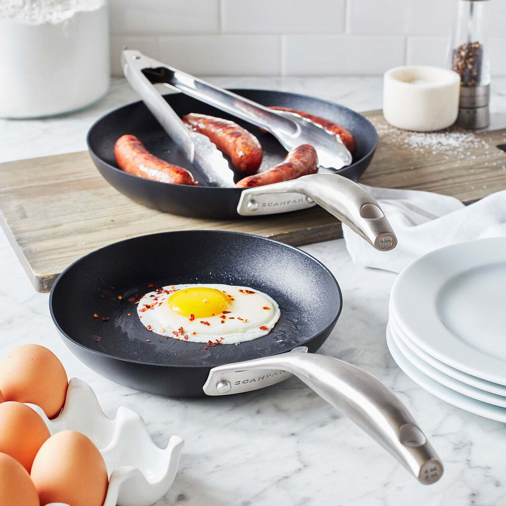 "Scanpan Pro S+ Skillets, Set of 2, 8"" and 10.25"""
