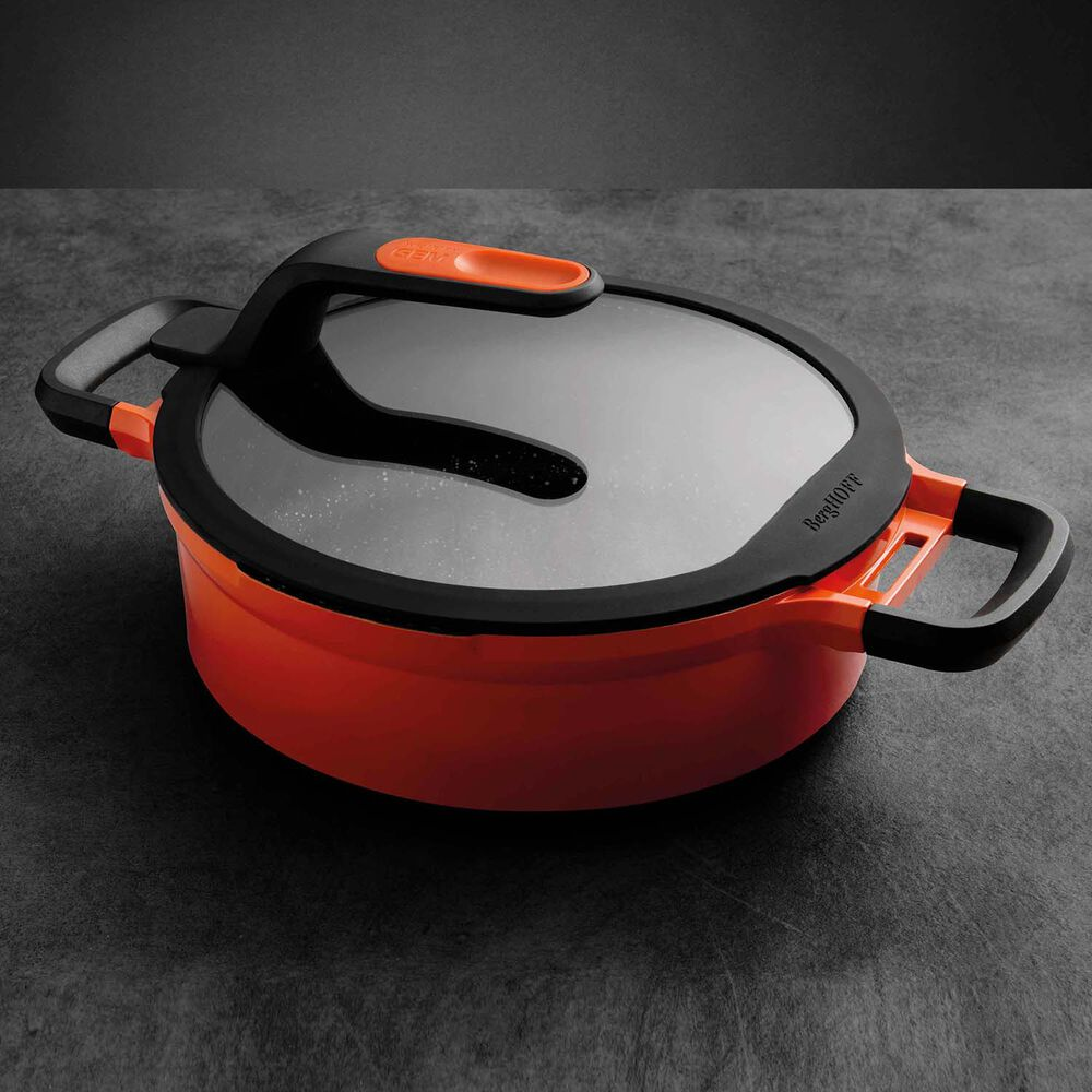 BergHOFF Gem Stay-Cool Double-Handled Sauté Pan with Lid