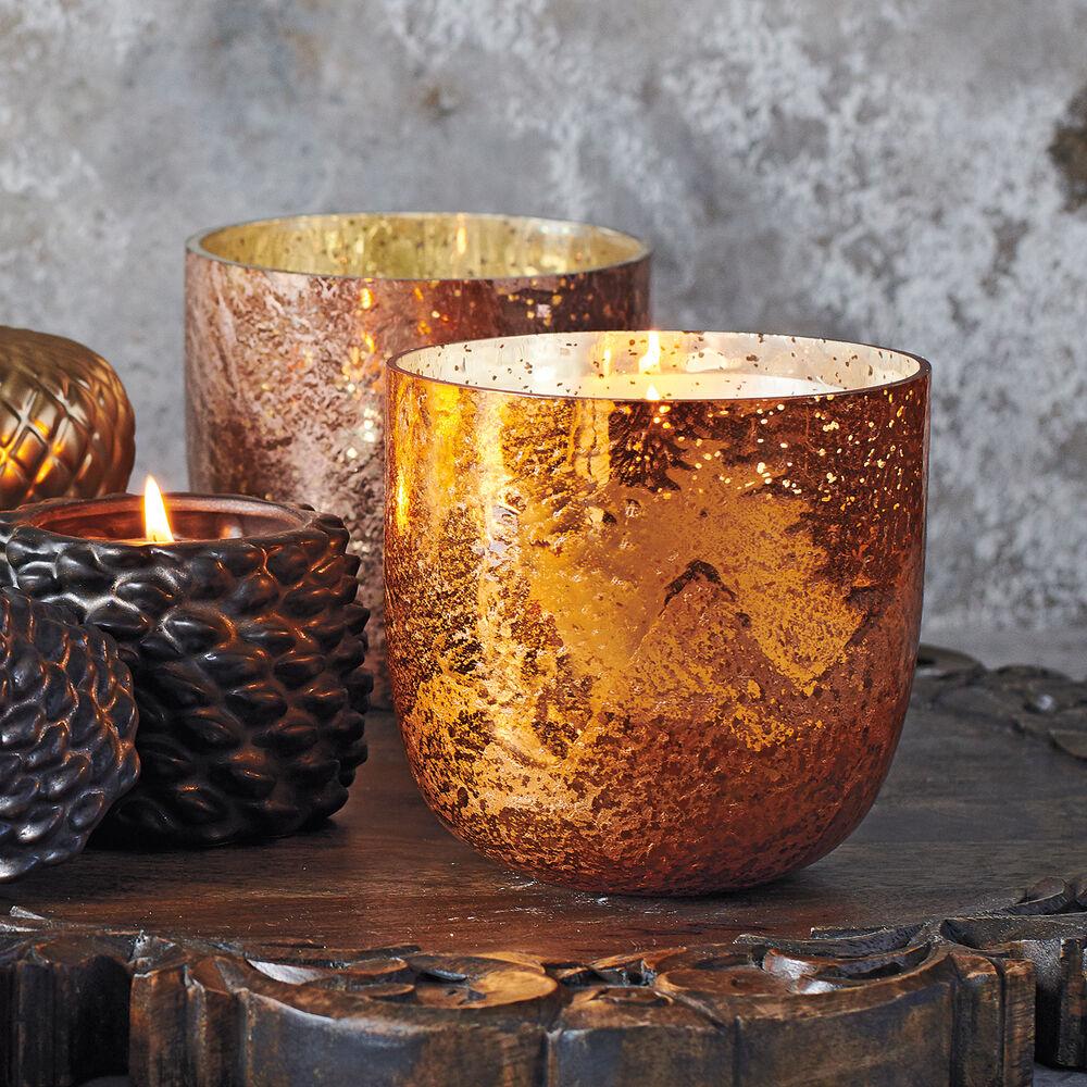 Mercury Glass Pumpkin Spice Soy Candle, 20 oz.