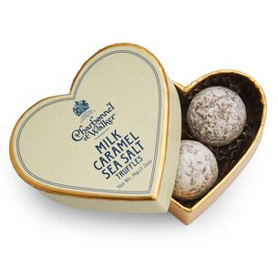 Charbonnel et Walker Mini Heart Sea Salt Caramel Milk Chocolate Truffles