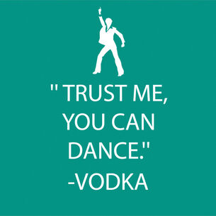 """Trust Me You Can Dance"" Paper Cocktail Napkins"