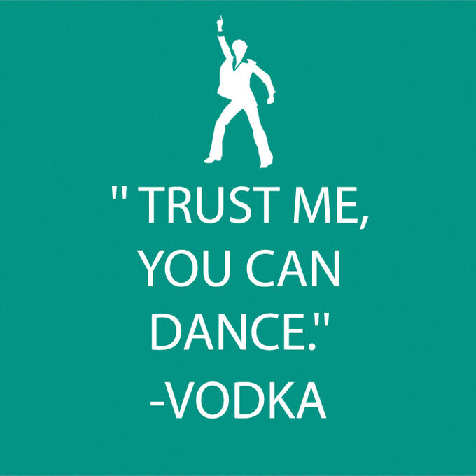"""""""Trust Me You Can Dance"""" Paper Cocktail Napkins"""