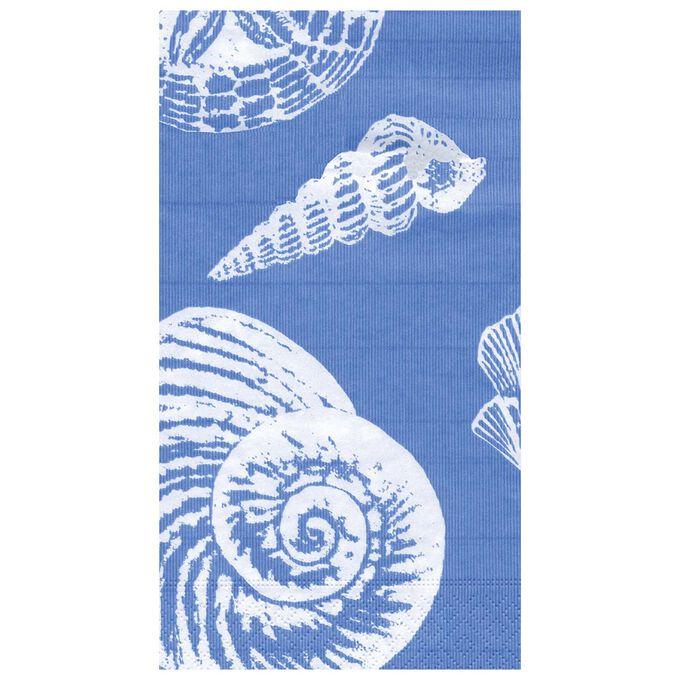 Shell Blue Guest Napkins, Set of 15