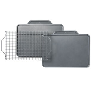 All-Clad Pro-Release Cookie Sheet Pans with Rack, Set of 3