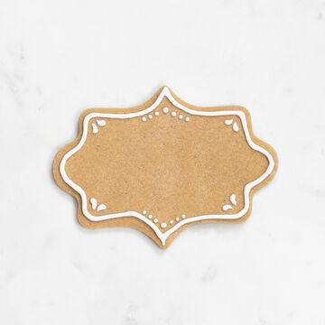 "Sur La Table Copper-Plated Fancy Plaque Cookie Cutter with Handle, 4"""