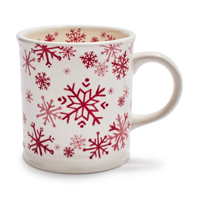 Red Snowflakes Mug