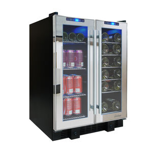 Vinotemp Touch-Screen Display Mirrored Wine and Beverage Cooler, 36 Bottle