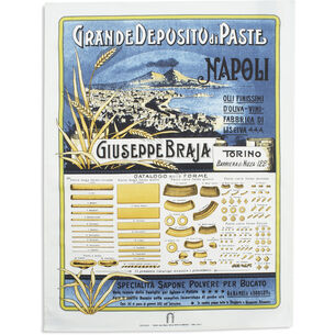 "Vintage-Label Italian Pasta Kitchen Towel,  30"" x 22"""