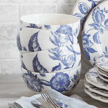 Italian Blue Floral Cereal Bowl
