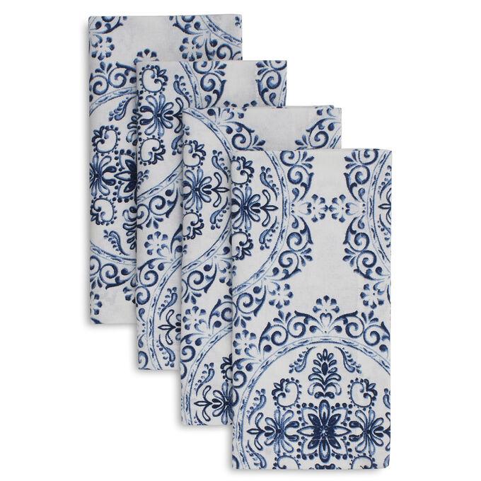 Blue Tile Napkins, Set of 4