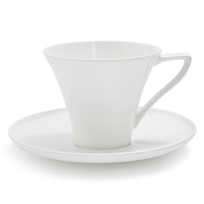 Fortessa Taura Bone China Mug with Saucer