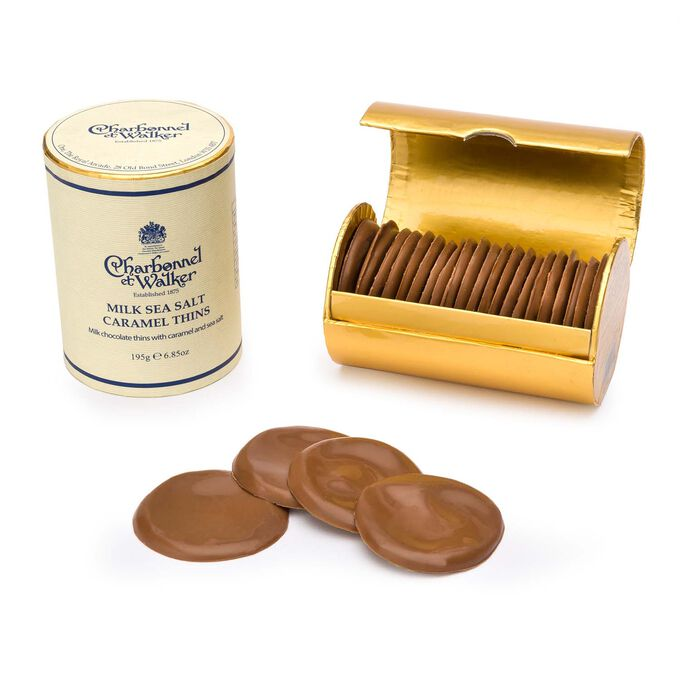 Charbonnel et Walker Milk Chocolate Thins with Caramel and Sea Salt