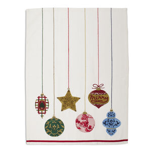 "Christmas Ornaments Kitchen Towel, 28"" x 20"""