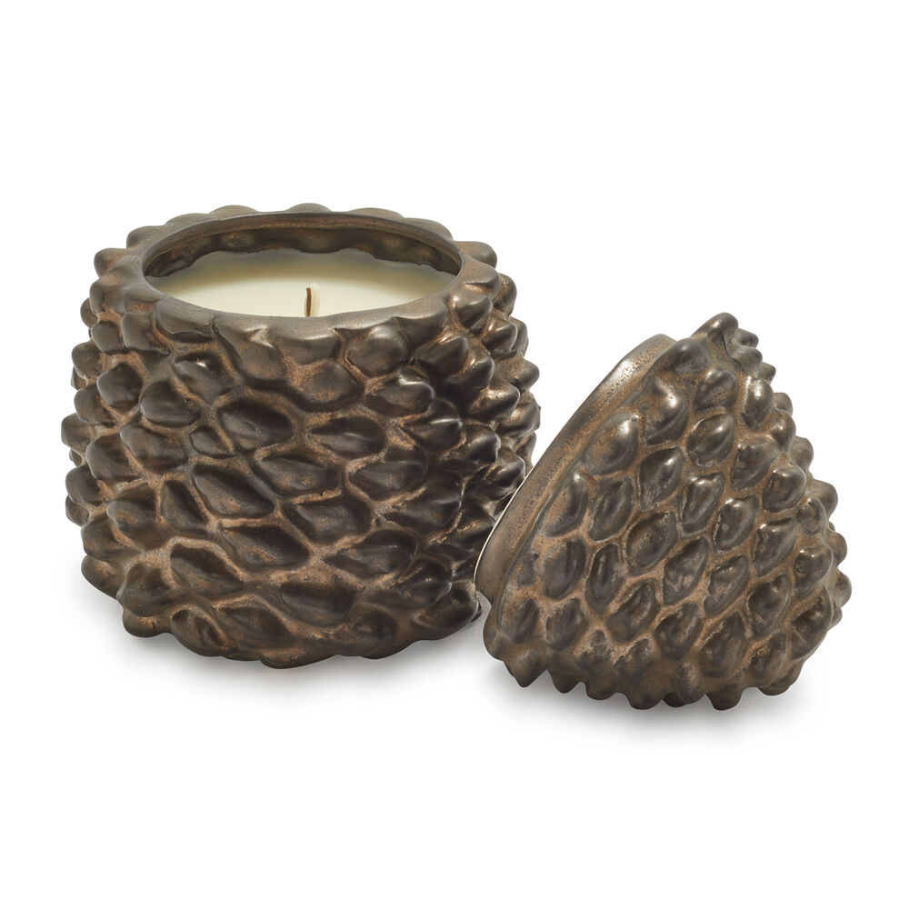 Figural Pinecone with Cinnamon Clove Scented Candle, 6.9 oz.