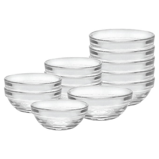 Duralex Lys Stackable 2 oz. & 4 oz. Bowls, Set of 12