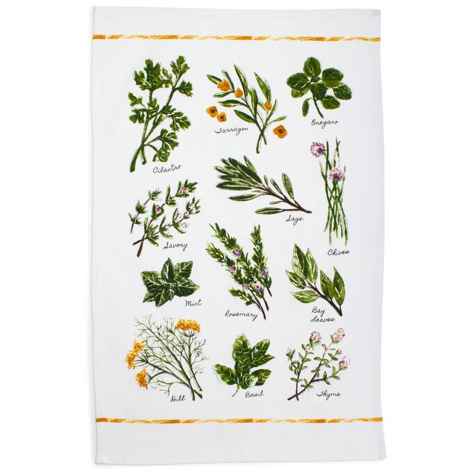 """Varietal Herbs Kitchen Towel, 28"""" x 20"""""""