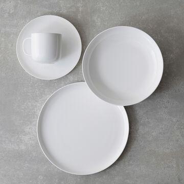 Gourmet Essentials Bone China Coupe Mugs, Set of 4